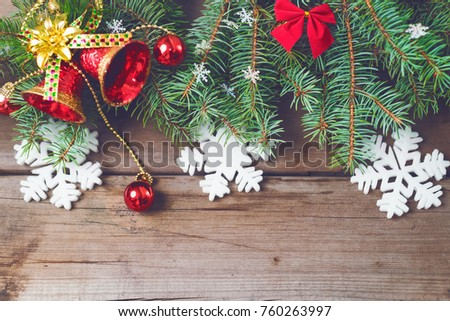 christmas decorations on old dark boards christmas background new year background xmax background