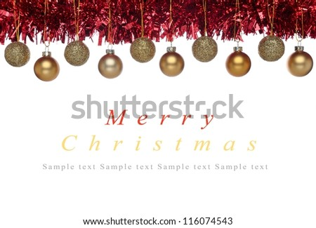 Christmas decorations - part of frame - with copyspace