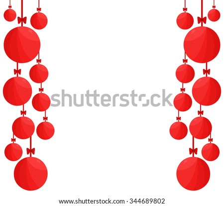 Christmas decorations red #344689802