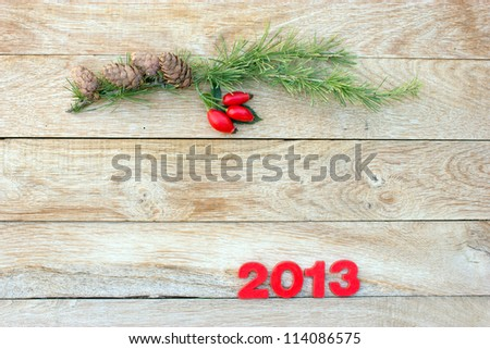 Christmas decorations - space for your text