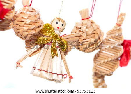 Christmas decorations - straw angel