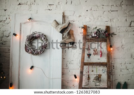 Christmas decorations with festoon #1263827083