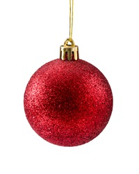 Christmas decorative Christmas ball. Isolated