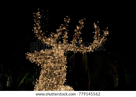 Christmas deer glows in the dark #779145562