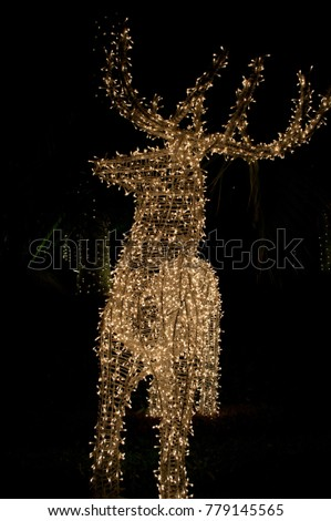 Christmas deer glows in the dark #779145565