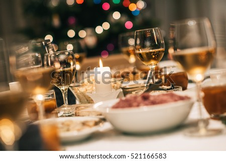 Christmas dinner is served