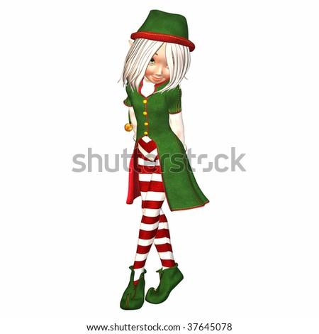 Christmas Elf Feeling Shy Stock Photo 37645078 : Shutterstock