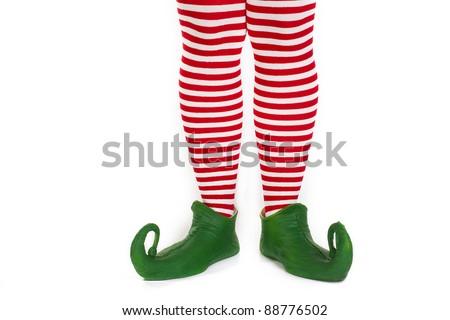 Christmas elf's legs