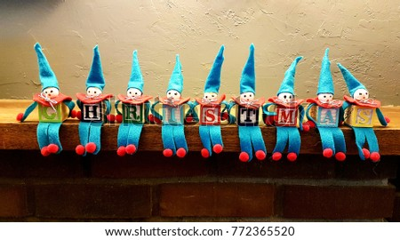 Christmas Elves on Shelf - Shutterstock ID 772365520