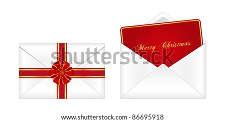 Christmas envelope. Vector available.