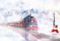 Christmas Express in the snowy landscape brings gifts