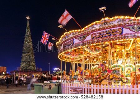 Christmas fair in Hyde park in 2016, London
