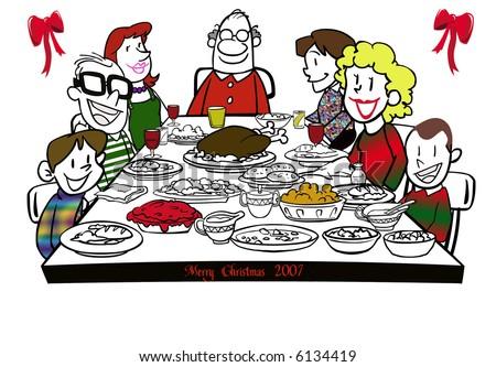 christmas dinner clip art - photo #15