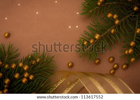 Christmas festive background with copy space