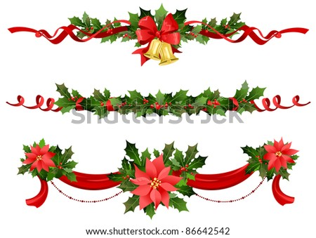 Christmas festive decoration Raster version