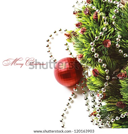 Christmas fir isolated over white