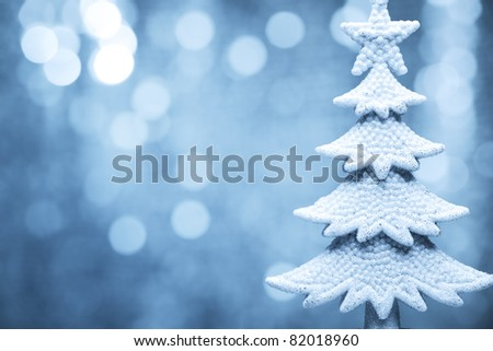 Christmas fir tree model on abstract background.Shallow Dof.