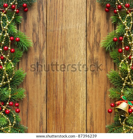 Christmas fir tree with christmas decoration