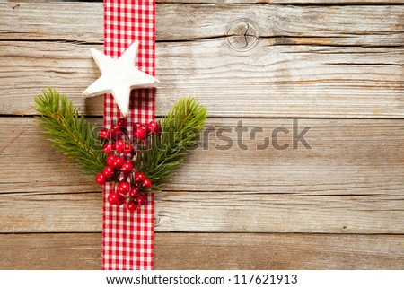 Christmas fir tree with decoration