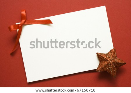 Christmas fir tree with paper and christmas decoration