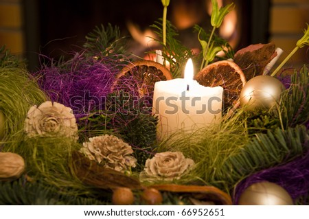 Christmas floral table decoration