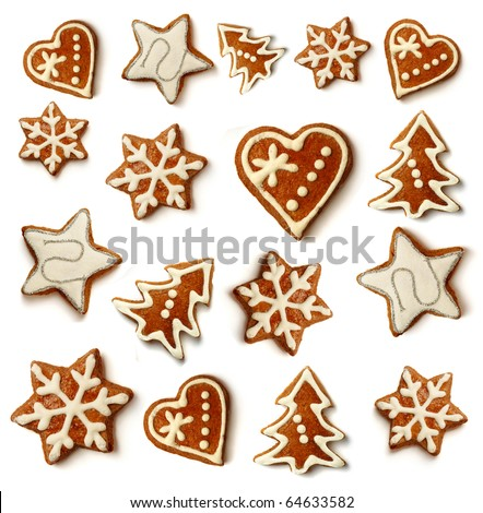 christmas frame background of gingerbreads