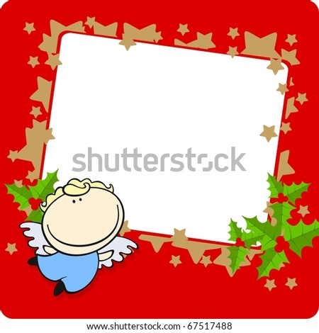 Christmas frame (raster version)