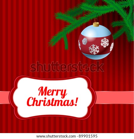 Christmas frame. Vector version available