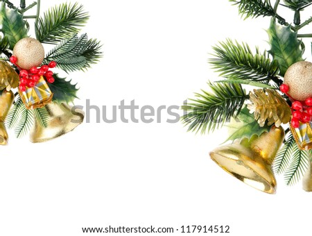 Photo of Christmas frame with free space for your images or writing.