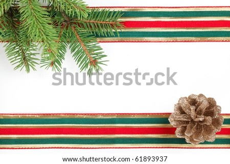 Photo of Christmas frame with free space for your images or writing
