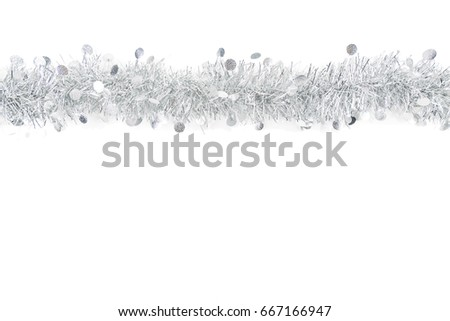 Silver White Gift Bow Ribbon Straight Horizontal Images And Stock