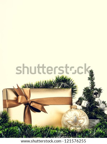 Christmas gift box with a nice decoration