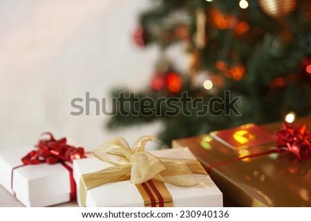 Christmas gift. Xmas decoration present