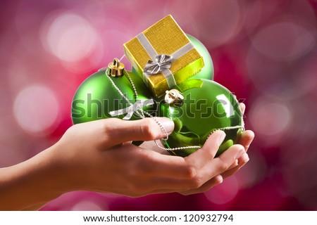 christmas gifts hand