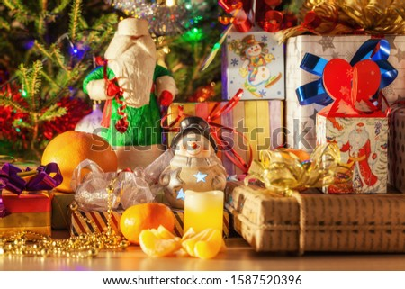Christmas gifts under the New Year tree, Russia