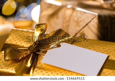 Christmas Gifts with blank tags special occasion