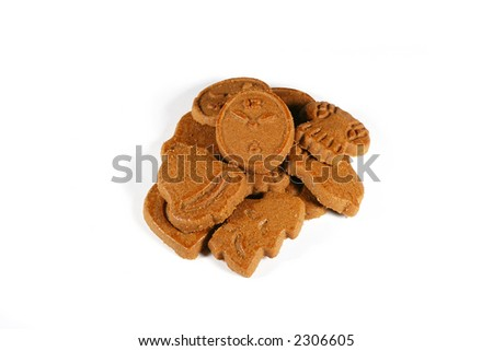 Christmas gingerbread (isolated on white)