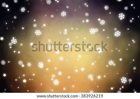Christmas gold background. The winter background, falling snowflakes #383926219