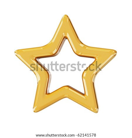 Christmas gold star