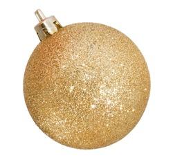Christmas golden ball isolated on white