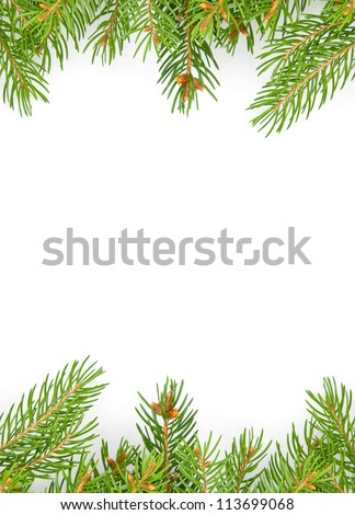 Christmas green framework isolated on white background #113699068