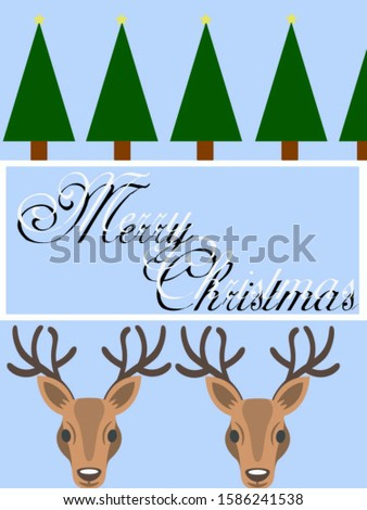 Christmas greeting background greetings made from a typography