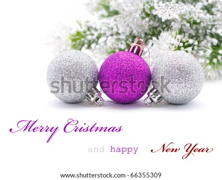 Christmas greeting card with sapmle text
