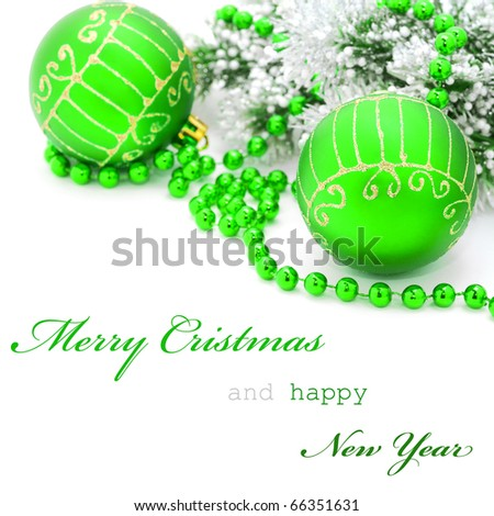 Christmas greeting card with simple text