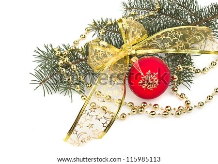 Christmas greeting card, with white background