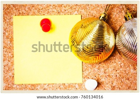 christmas greeting with christmas decorations #760134016
