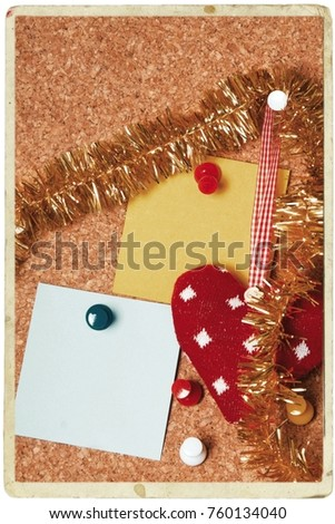 christmas greeting with christmas decorations #760134040