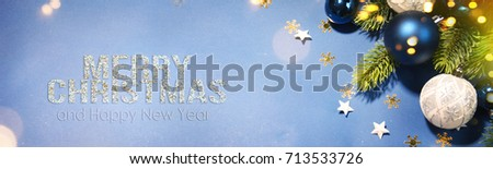 Christmas holiday background. - Shutterstock ID 713533726
