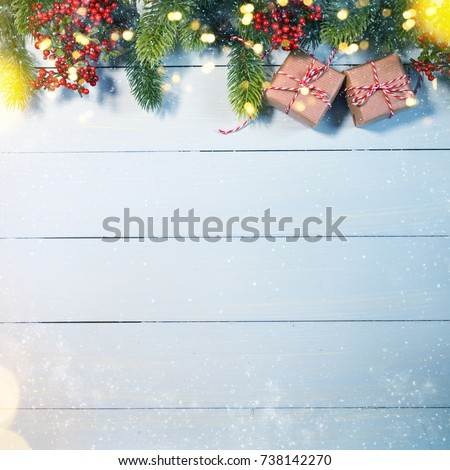 Christmas Holiday background with gift box #738142270