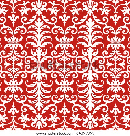 Christmas Holiday Collection Damask Pattern Texture Background